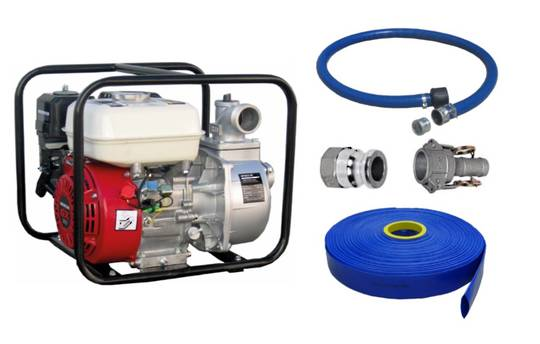 "2"" Honda Powered Pump + Hose Kit"