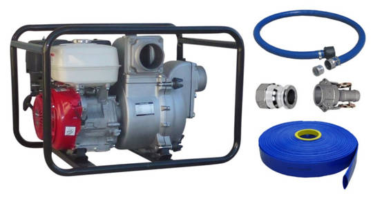"3"" Honda Powered Trash Pump HD + Hose Kit"