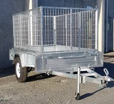 Safari 7x4 Single Axle Box Trailer Incl 900mm Cage