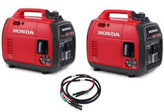 Honda EU22I Inverter Generator X 2 Incl Joining Cord