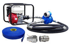 "Honda Powered 2"" Flexi-Drive Pump 6m Drive Shaft + Hose Kit"