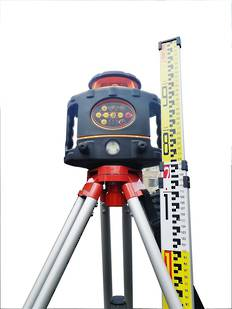 Rotating Laser Level RL430G Dual Slope Function IP66 Incl Staff & Tripod